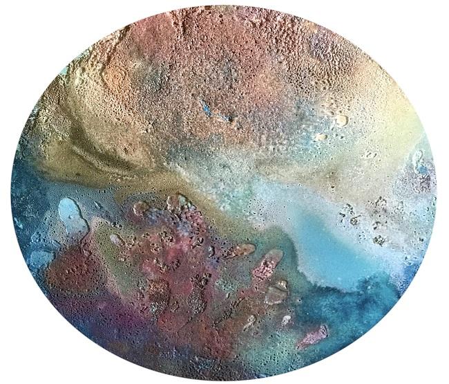 Blue island. 100 cm. 2020 tecnica mixta sobre madera-2