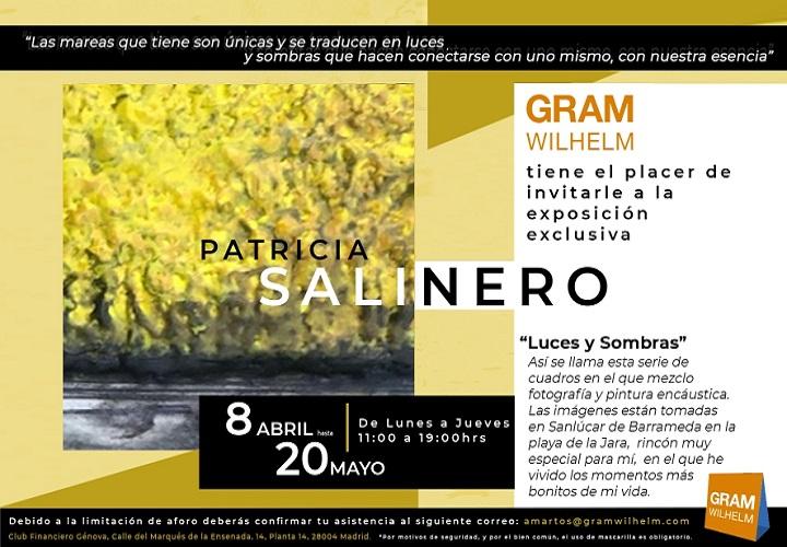 """Invitación exposición """"Luces y Sombras"""" de la artista Patricia Salinero"""