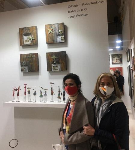 Visita exposición_Isabel de la O_con Irene López de Castro_web
