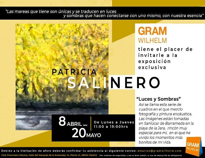 """Invitació """"Luces y Sombras"""" de Patricia Salinero"""