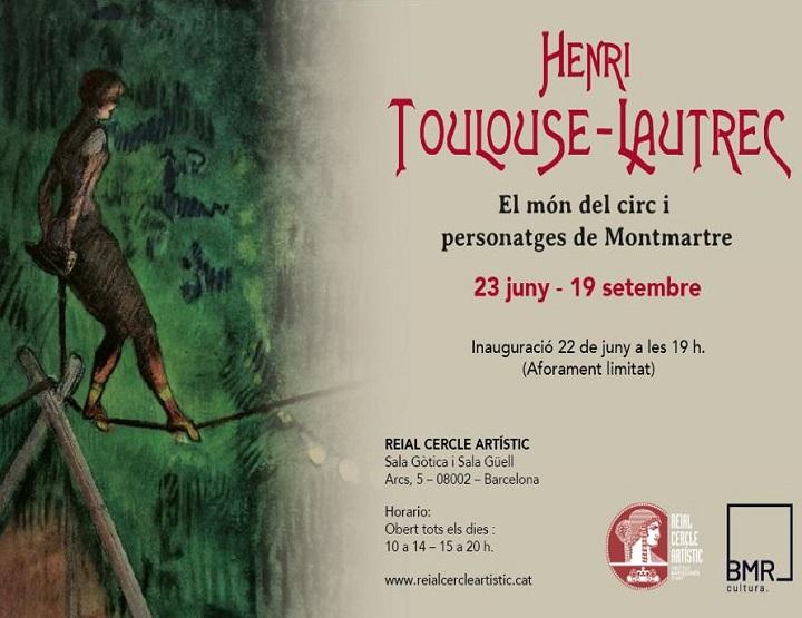 cartel inauguración exposición Toulouse-Lautrec